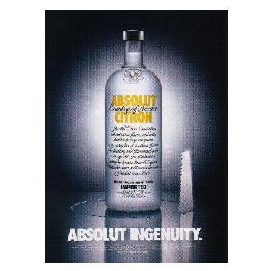 ABSOLUT INGENUITY Vodka Magazine Ad