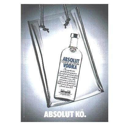ABSOLUT K� German Language Vodka Magazine Ad