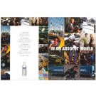 IN AN ABSOLUT WORLD Vodka Magazine Ad COLLAGE Double-Sided