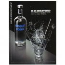 IN AN ABSOLUT WORLD Spanish Language Vodka Magazine Ad DEL AUTÉNTICO SABOR...