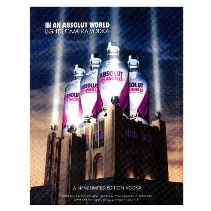 IN AN ABSOLUT WORLD Vodka Magazine Ad LOS ANGELES
