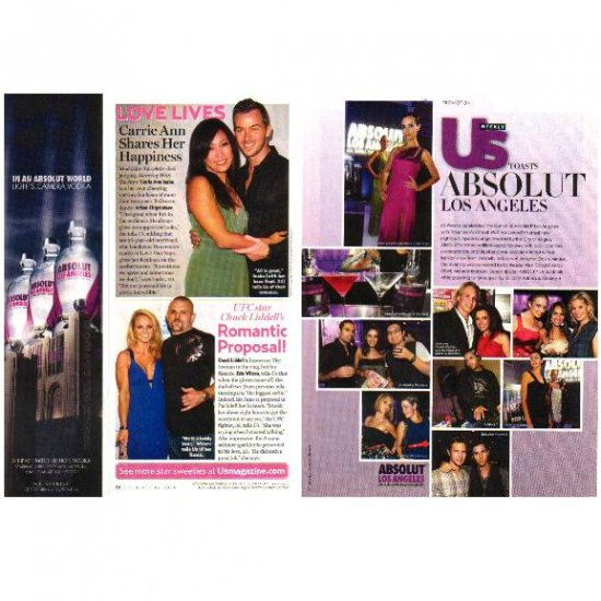 US WEEKLY TOASTS ABSOLUT LOS ANGELES Magazine Article & Sidebar Ad 2pp