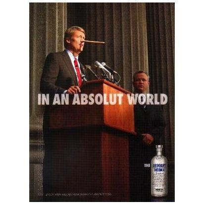 IN AN ABSOLUT WORLD Vodka Magazine Ad PINOCCHIO NOSE