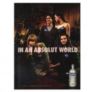 IN AN ABSOLUT WORLD Vodka Magazine Ad BORING MARRIED LOOKING TWISTED