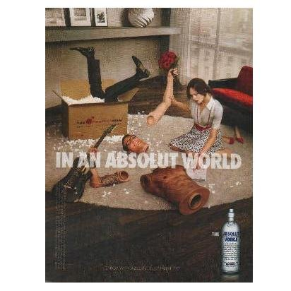 IN AN ABSOLUT WORLD Vodka Magazine Ad THE PERFECT MAN