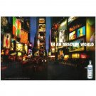 IN AN ABSOLUT WORLD Vodka Magazine Ad TIMES SQUARE 2pp