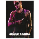 ABSOLUT KRAVITZ Vodka Magazine Ad