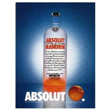 ABSOLUT MANDRIN Vodka Magazine Ad