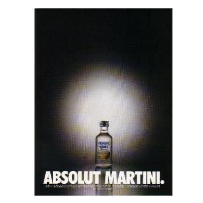 ABSOLUT MARTINI Vodka Magazine Ad