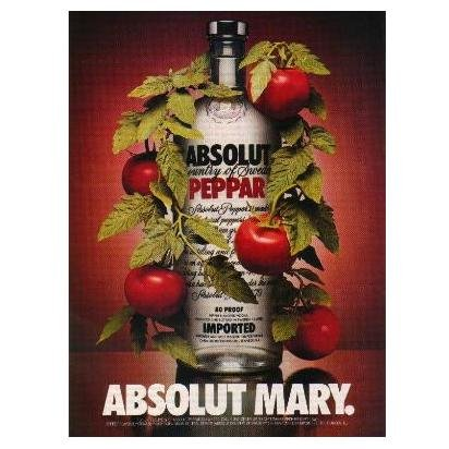 ABSOLUT MARY Vodka Magazine Ad