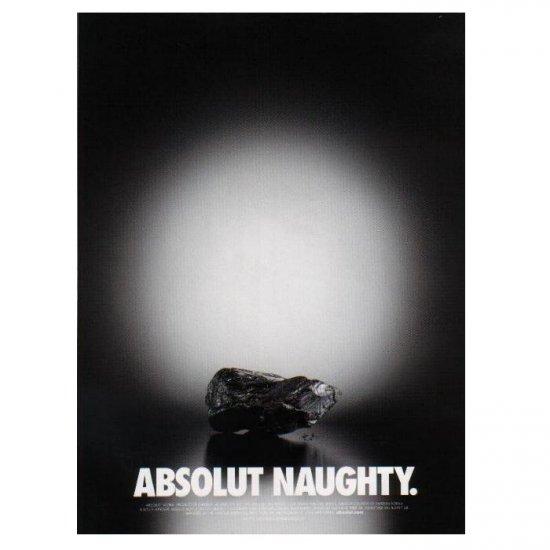 ABSOLUT NAUGHTY Vodka Magazine Ad LUMP OF COAL