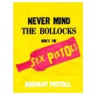 ABSOLUT PISTOLS Vodka Magazine Ad from the ABSOLUT ALBUM COVERS Campaign