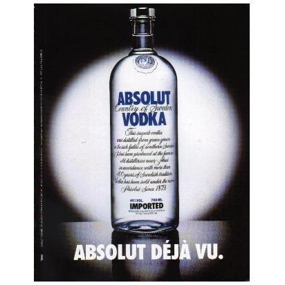 ABSOLUT D�J� VU Vodka Magazine Ad