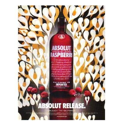 ABSOLUT RELEASE Vodka Magazine Ad PHIL FROST