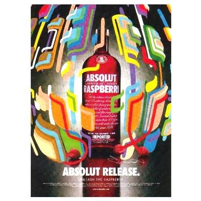 ABSOLUT RELEASE Vodka Magazine Ad KENJI HIRATA