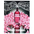 ABSOLUT RASPBERRI Vodka Magazine Ad MAYA HAYUK Spanish Text