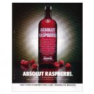 ABSOLUT RASPBERRI Vodka Magazine Ad FRENCH TEXT