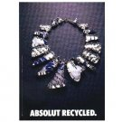 ABSOLUT RECYCLED Vodka Magazine Ad BRITISH VERSION