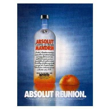 ABSOLUT REUNION Vodka Magazine Ad