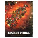 ABSOLUT RITUAL Vodka Magazine Ad w/ Holiday Ads Caption