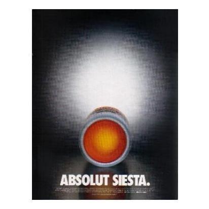 ABSOLUT SIESTA Vodka Magazine Ad