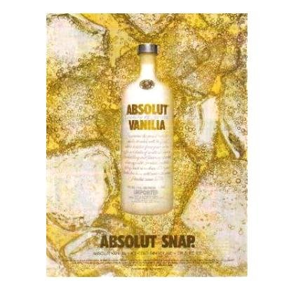 ABSOLUT SNAP Vodka Magazine Ad