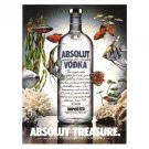ABSOLUT TREASURE Vodka Magazine Ad