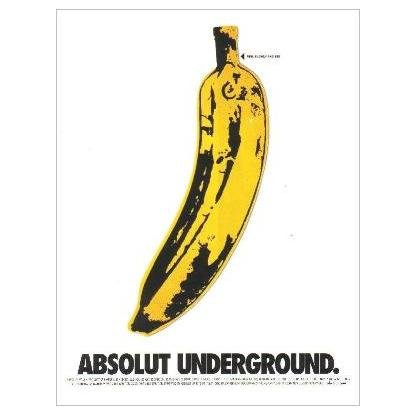 ABSOLUT UNDERGROUND Vodka Magazine Ad from the ABSOLUT ALBUM COVERS Campaign