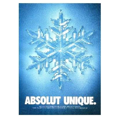 ABSOLUT UNIQUE Vodka Magazine Ad