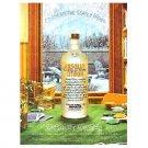 ABSOLUT WINTER Vodka Magazine Ad ABSOLUT DEAL COCKTAIL RECIPE