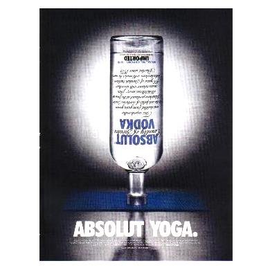 ABSOLUT YOGA Vodka Magazine Ad