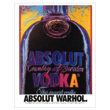 ABSOLUT WARHOL Vodka Magazine Ad