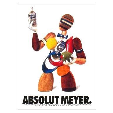ABSOLUT MEYER Vodka Magazine Ad