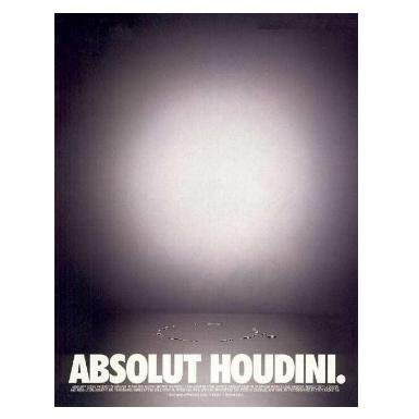 ABSOLUT HOUDINI Vodka Magazine Ad