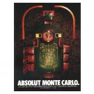 ABSOLUT MONTE CARLO Vodka Magazine Ad