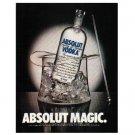 ABSOLUT MAGIC Vodka Magazine Ad