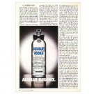ABSOLUT ELEGANCE Vodka Magazine Ad (Partial Page)