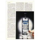ABSOLUT MASTERPIECE Vodka Magazine Ad (Partial Page)