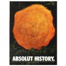 ABSOLUT HISTORY Vodka Magazine Ad