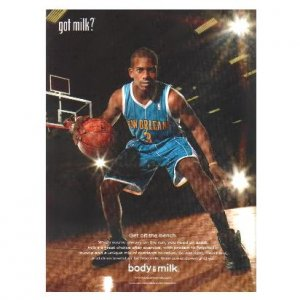 CHRIS PAUL got milk? Milk Mustache Magazine Ad © 2009