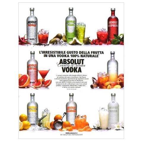 ABSOLUT VODKA Italian Language Magazine Ad