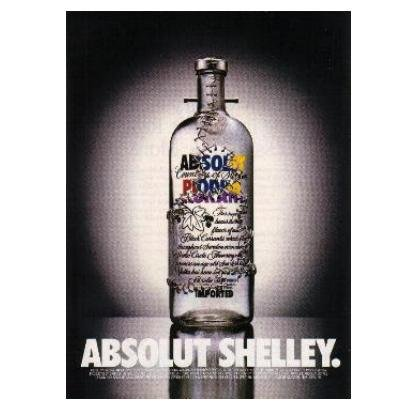 ABSOLUT SHELLEY Vodka Magazine Ad