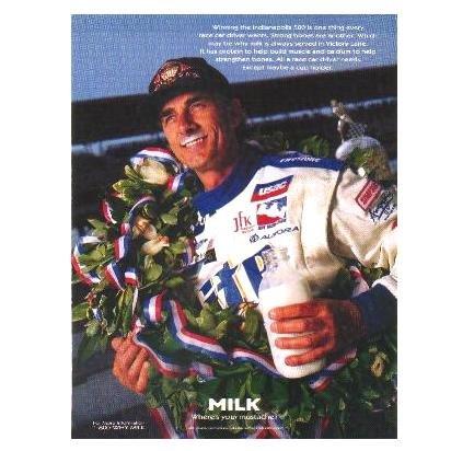 ARIE LUYENDYK Milk Mustache Magazine Ad © 1997