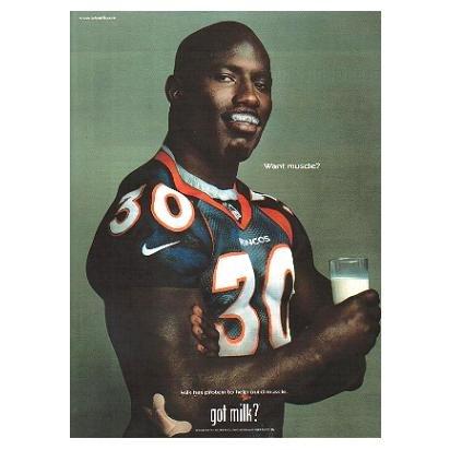 TERRELL DAVIS got milk? Milk Mustache Magazine Ad © 1999