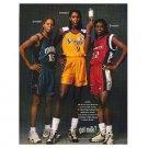 NIKKI MCCRAY, LISA LESLIE, SHERYL SWOOPES got milk? Milk Mustache Magazine Ad © 1999
