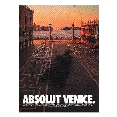 ABSOLUT VENICE Vodka Magazine Ad