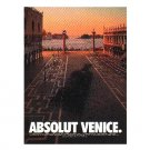 ABSOLUT VENICE Vodka Magazine Ad