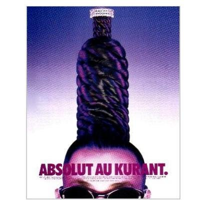 ABSOLUT AU KURANT Vodka Magazine Ad HAIRDO