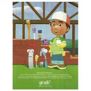 Handy Manny got milk? Milk Mustache Magazine Ad © 2010