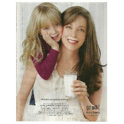 EDITH GONZ�LEZ Y SU HIJA CONSTANZA got milk? Magazine Ad © 2011 SPANISH TEXT - VERSION 1
